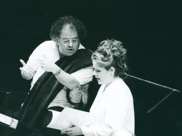 James Levine and Renee Fleming, 1993.