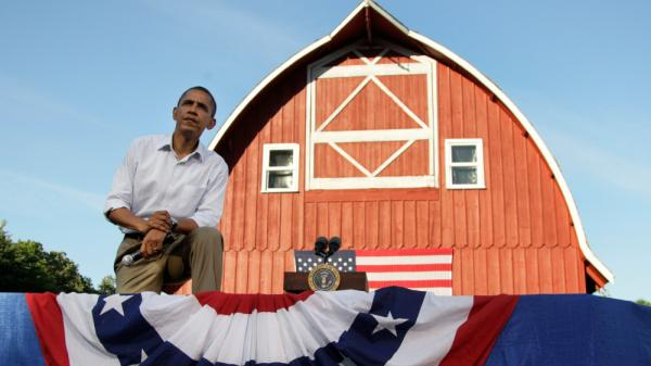 President Obama listens to questions during a Monday town hall meeting in Decorah, Iowa.