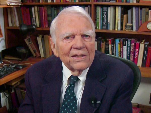 <p>Andy Rooney tapes his final segment for <em>60 Minutes</em>.</p>