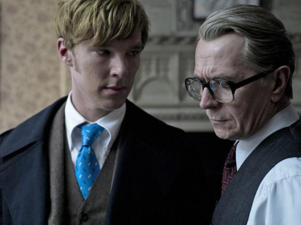 <strong>'Cosh And Carry':</strong> Smiley's colleague Peter Guilliam (Benedict Cumberbatch, left) runs the MI6 division charged with blackmail, kidnapping and other rough stuff.