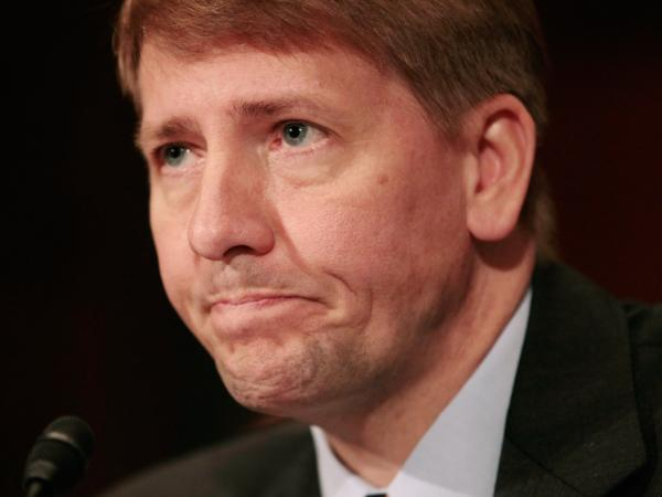Richard Cordray testifies during his confirmation hearing on Capitol Hill in September. His nomination to head the consumer watchdog agency was blocked by Senate Republicans on Thursday.