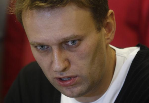 Alexei Navalny, a leader of Russia's political opposition, speaks at a meeting to discuss a Dec. 24 opposition rally protesting election results in Moscow.
