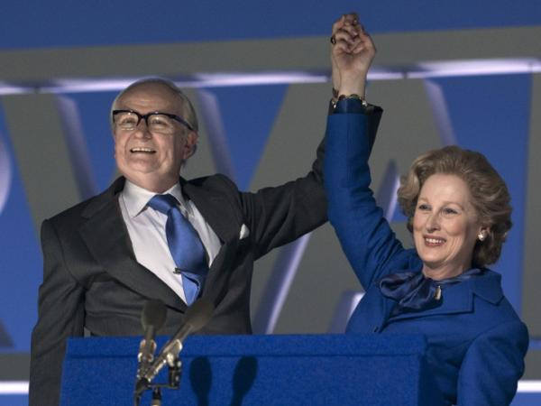 <strong></strong>Streep plays Margaret Thatcher — and Jim Broadbent her supportive husband, Denis — in<em> The Iron Lady.</em>