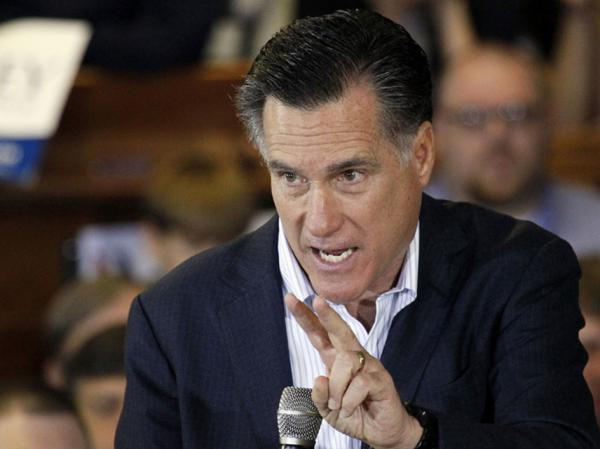 Former Massachusetts Gov. Mitt Romney speaks at the Mississippi Farmers Market in Jackson, Miss., on Friday. He had more than a couple of negative things to say about President Obama.
