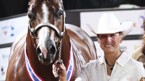 This November 2011 photo provided by <em>The American Quarter Horse Journal</em> shows Rita Crundwell of Dixon, Ill., at the 2011 American Quarter Horse Association World Championship Show in Oklahoma City. FBI agents arrested Crundwell, the Dixon comptroller, on charges she misappropriated more than $30 million since 2006 to finance a lavish lifestyle.