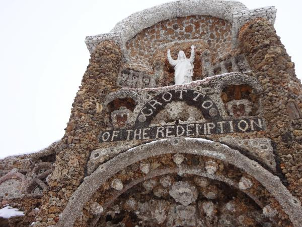Just about everyone in West Bend — population 785 — is connected to the grotto, which was built over a period of 40 years.