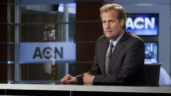 Jeff Daniels stars in HBO's new series, <em>The Newsroom</em>.
