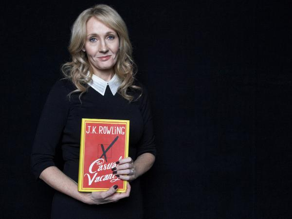 J.K. Rowling promotes her new novel, <em>The Casual Vacancy,</em> at Lincoln Center in New York. It was her only U.S. appearance.