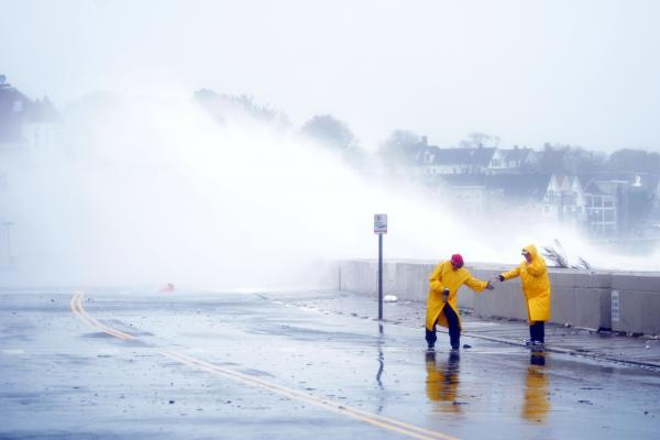 Waves crash over Winthrop Shore Drive in Winthrop as Hurricane Sandy comes up the Massachusetts coast on Oct. 29.