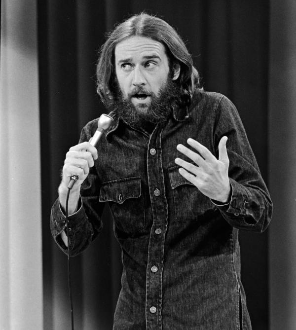 George Carlin in 1981. The comedian's seven dirty words made the list of best lists.