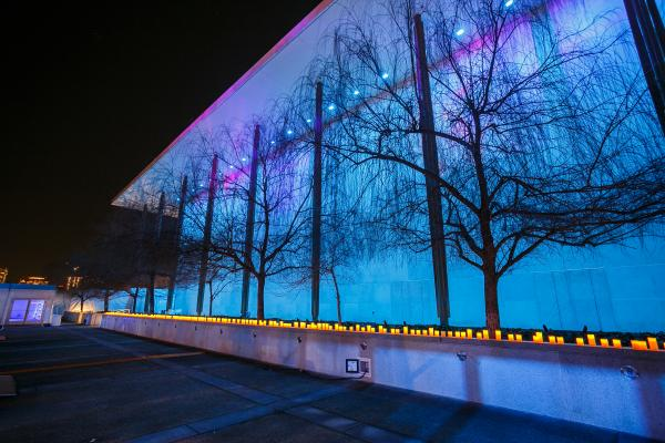 <em>Northern Lights</em> illuminate the Kennedy Center in Washington, D.C., during its monthlong festival, Nordic Cool 2013. The festival includes performances and exhibits from more than 750 artists. The exhibit runs through March 17.