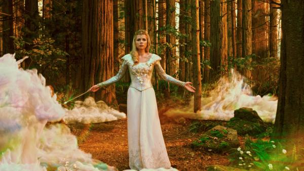 Glinda (Michelle Williams) is a familiar magical presence in this  color-saturated return to L. Frank Baum's famous faraway land.