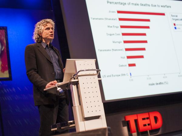 Steven Pinker says our perception of how violent we are as a species is skewed.
