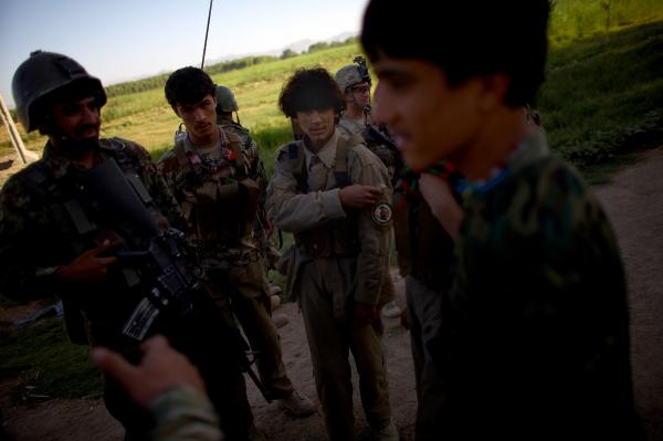 Members of the Afghan Local Police are trying to separate insurgents from the villagers in the Arghandab River Valley near Kandahar.