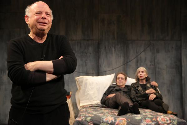 Wallace Shawn (from left), Larry Pine and Deborah Eisenberg make up the cast of <em>The Designated Mourner</em>. Written by Shawn and directed by Andre Gregory, the Public Theater show is a product of one of the longest collaborations in the history of the American theater.