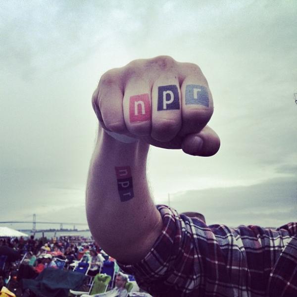 NPR temporary tattoos