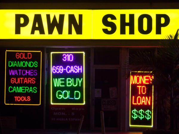 A pawn shop in Los Angeles, CA.