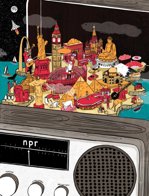 St. Louis-based illustrator Vidhya Nagarajan designed this art for the 2014 NPR Wall Calendar.