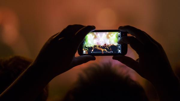 The Gaslight Anthem, as seen through a cellphone.