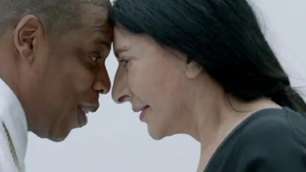 Jay Z and Marina Abromovic eye to eye.