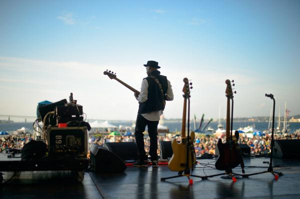 The Miles Davis veteran and multi-instrumentalist Marcus Miller gives a pan-stylistic set at the Fort Stage.