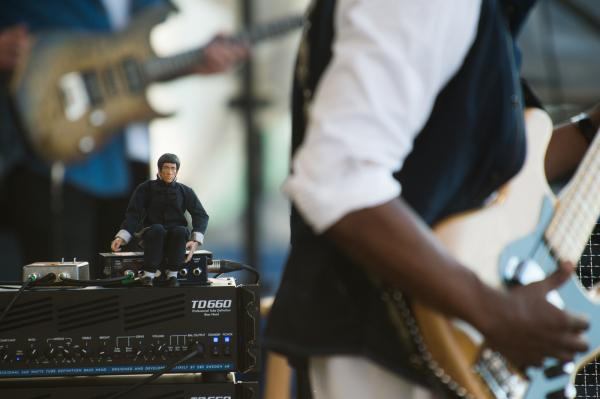 Marcus Miller's spirit guide is a Bruce Lee action figure.