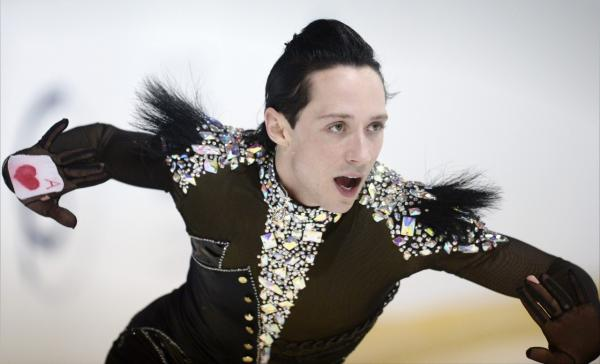 Johnny Weir of USA skates at the 2012 Finlandia Trophy Espoo International figure skating competition. (Antti Aimo-Koivisto/LEHTIKUVA via AP)