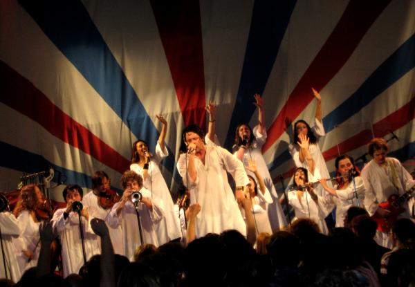 "The Polyphonic Spree, a band based in Dallas, Texas, is on tour with the new album, ""Yes, It's True."" (Paul Kim/Flickr)"