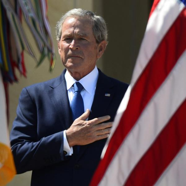 Former President George W. Bush at the April dedication of his presidential library in Dallas.
