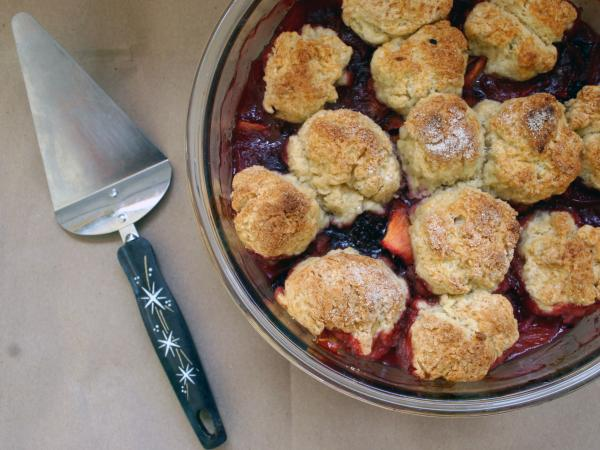 Peach Blackberry Cobbler