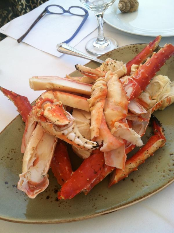 Alaskan king crab. (Kathy Gunst/Here & Now)