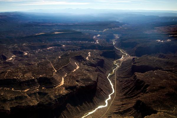 "A major tributary of the Colorado River, the Dolores River Basin, is seen south of Grand Junction, Colo. Ken Neubecker, executive director of the Western Rivers Institute, talks about the connection of water and energy. ""Water takes a lot of energy, a huge amount of energy; people don't realize it. We tend to take water for granted."""