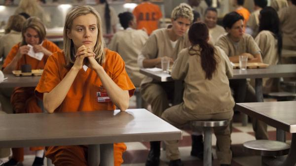 Taylor Schilling plays Piper in Netflix's <em>Orange Is the New Black</em>, which is based on Piper Kerman's memoir of her year in prison.
