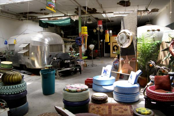 Tad Pierson lives in a converted garage in downtown Memphis, and sleeps in a vintage Airstream trailer.