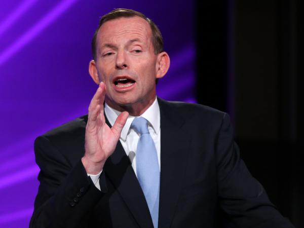 Australian Opposition Leader Tony Abbott.