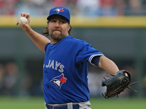 Knuckleballer R.A. Dickey of the Toronto Blue Jays won the 2012 Cy Young award for best pitcher in the National League after winning 20 games and losing just six for the New York Mets.