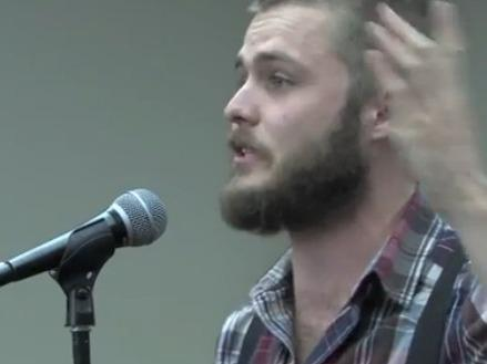 "Neil Hilborn performs ""OCD"" at the 2013 Rustbelt Poetry Slam."