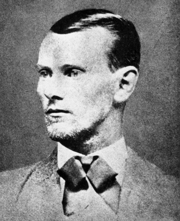 Jesse James, seen here in his 1874 wedding portrait, fought in the American Civil War before he formed a gang and started robbing banks.