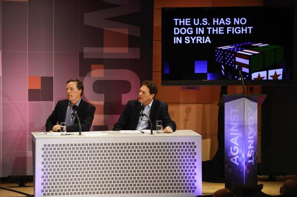 "Nicholas Burns and Nigel Sheinwald argue against the motion ""€œThe U.S. Has No Dog In The Fight In Syria."""