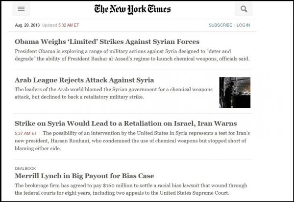 <em>The New York Times</em>' alternate site.