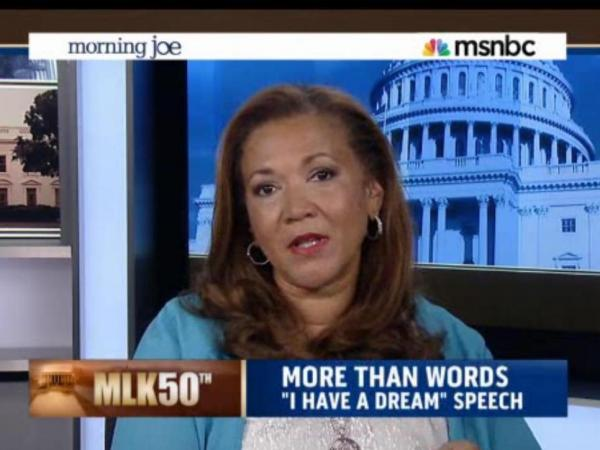 NPR's Michele Norris on <em>Morning Joe. </em>She joined the MSNBC program on the 50th anniversary of the March on Washington.