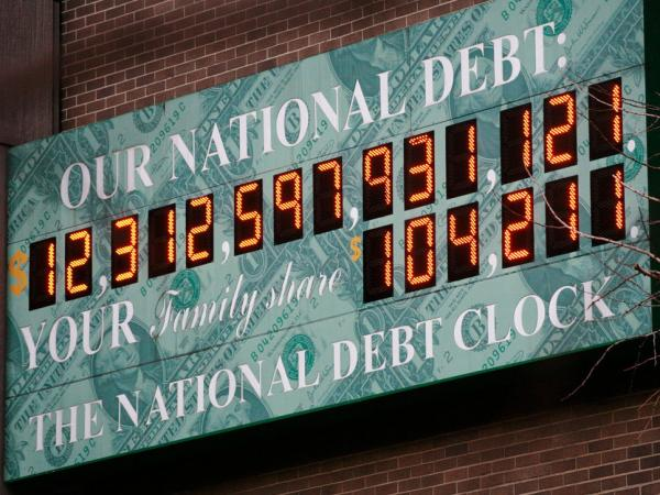 <p>This Feb. 1, 2010, file photo shows the National Debt Clock in New York.</p>