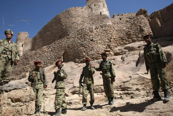 Yemeni army soldiers gather at the historic castle of Rada last month, as hundreds of al-Qaida gunmen yielded to tribal pressure and withdrew from Rada, a town they had held for nine days. The U.S. is increasingly turning its focus to al-Qaida affiliates such as the one in Yemen.