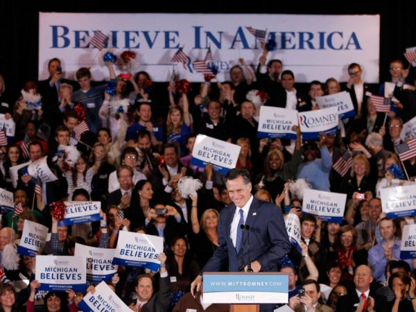 Mitt Romney narrowly won in Michigan Tuesday night. For Super Tuesday, he'll set his sights on Ohio, Massachusetts, Vermont and Virginia.