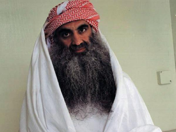A picture posted on the website www.muslm.net in 2009 allegedly shows al-Qaida's Khalid Sheikh Mohammed, who has claimed to be the mastermind of the Sept. 11 attacks, at the Guantanamo Bay detention camp.