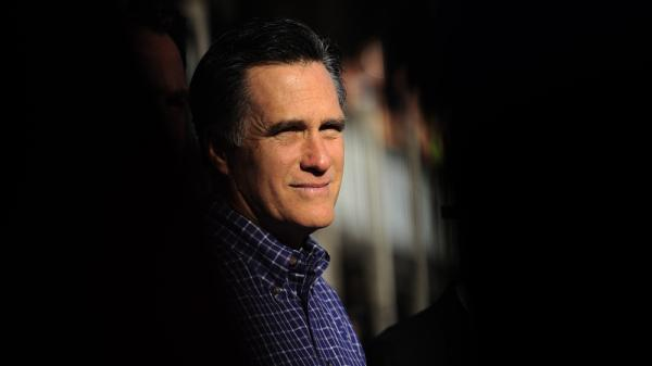 Republican presidential candidate Mitt Romney holds a rally in Pensacola, Fla., in January.