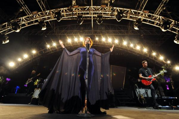 Florence Welch, of Florence and the Machine, performs April 15 at Coachella.