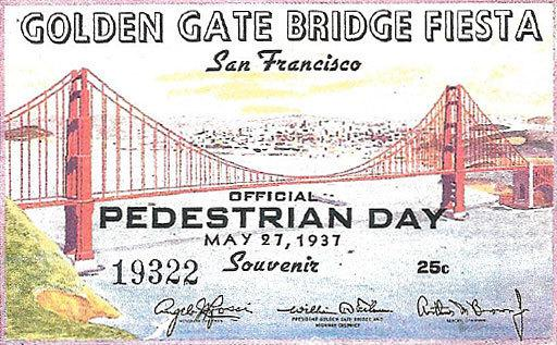 This certificate, which belongs to Edgar Stone, was given to everyone who walked on the bridge on opening day.