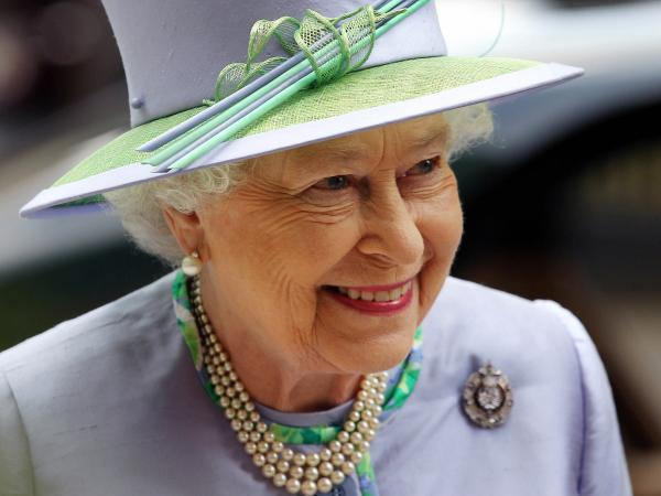 Queen Elizabeth II arrives for an event with The Argyll and Sutherland Highlanders, 5th Battalion, The Royal Regiment of Scotland, in London on Wednesday.