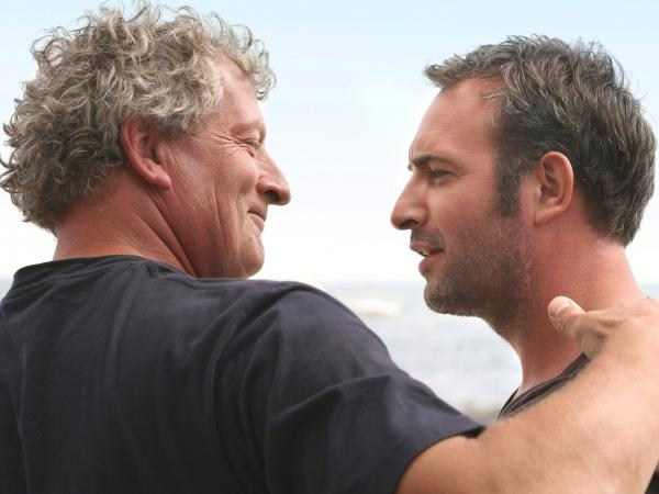 Joel Dupuch, an oysterman who plays a version of himself, communes with Ludo (Jean Dujardin).